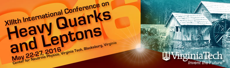 Heavy Quarks and Leptons - May 22-27, 2016 - Virginia Tech